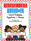 Multiplication Arrays & Word Problem {Task Cards}