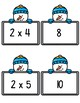 Multiplication Match-Up X 2-12 Snowman Theme Multiplying by Facts 2-12