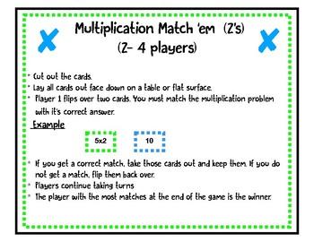 Multiplication Match'em (2's and 3's)