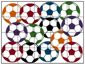 Multiplication Match-up Puzzles {Soccer}