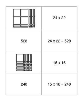 Multiplication Matching Activity (2x2 digit)