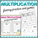Multiplication Matching Game: Times Tables 2's-10's Math Centers