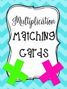 Multiplication Matching Cards