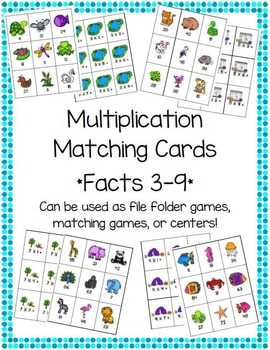 Multiplication Matching Cards {Animal Theme}