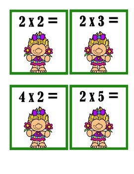 Multiplication Matching Cards - Basic Facts