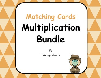 Multiplication Matching Cards Bundle