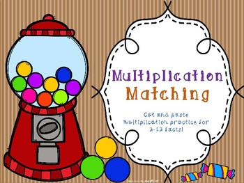Multiplication Matching: Cut & Paste 2-12 Facts