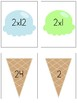 Multiplication Facts Matching Game 2-12 Ice Cream Theme