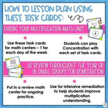 Multiplication Matching Math Centers