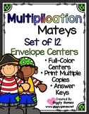 Multiplication Mateys Multiplication Set of 12 Envelope Centers
