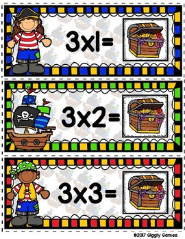 Multiplication Mateys Multiplication by 3 Envelope Center