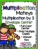 Multiplication Mateys Multiplication by 3 Envelope Center