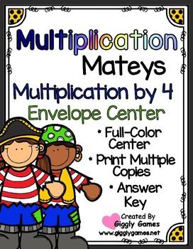Multiplication Mateys Multiplication by 4 Envelope Center
