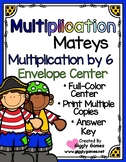 Multiplication Mateys Multiplication by 6 Envelope Center