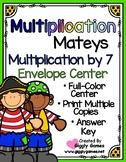 Multiplication Mateys Multiplication by 7 Envelope Center