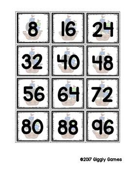 Multiplication Mateys Multiplication by 8 Envelope Center