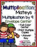 Multiplication Mateys Multiplication by 9 Envelope Center