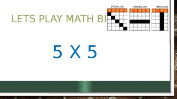 Multiplication Math Bingo