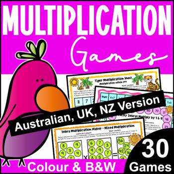 Multiplication Games for Multiplication Facts [Australian UK NZ Edition]