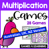 Multiplication Games for Multiplication Facts [Australia UK NZ Edition]