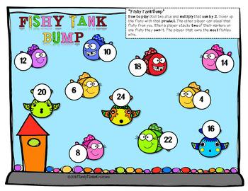 Multiplication Math Bump Games