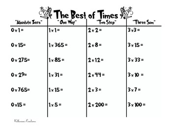 """Multiplication Math Center Using Greg Tang's """"The Best of Times"""""""