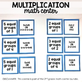 Multiplication Math Center (included in 2nd grade math cen