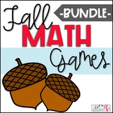 Fall Multiplication Math Games and Centers BUNDLE