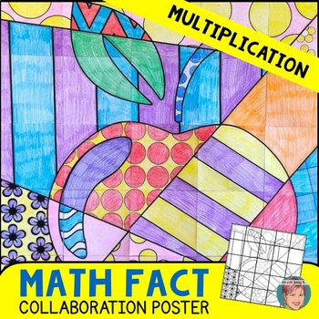 Math + Art Integration Activity: Multiplication Review Apple Poster