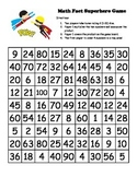 Multiplication Math Fact (1-10) Superhero Game