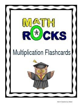 Multiplication Math Fact Flashcards 0-12