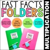 Multiplication Math Fact Fluency | Fast Facts Folders