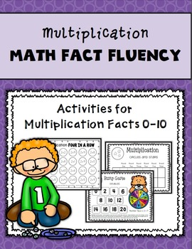 Multiplication Math Fact Fluency Games and Activities