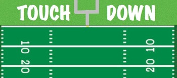 Multiplication Math Fact Football Game 3rd 4th 5th Grade