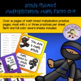Multiplication Math Fact Practice: Ninja Themed
