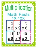Multiplication Math Facts