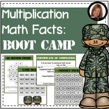 Multiplication Math Facts Boot Camp