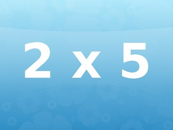 Multiplication Math Facts Exercise