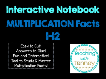 Multiplication Math Facts Interactive Notebook