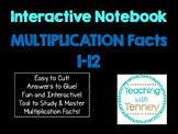 Multiplication Math Facts Interactive Notebook
