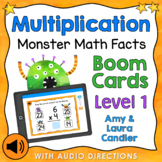 Multiplication Math Facts Level 1 Boom Cards - Digital Task Cards