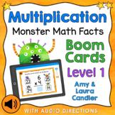 Multiplication Math Facts Level 1 Boom Cards - Digital Task Cards