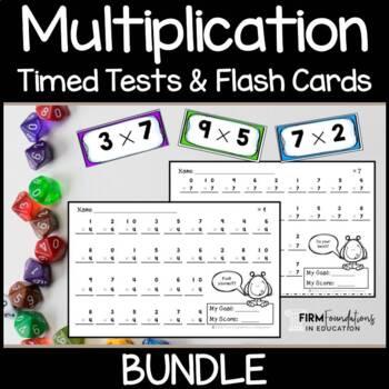 Multiplication Timed Tests & Flash Cards Bundle