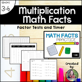 Multiplication Math Facts: Factor Tests, Timer, Incentive Chart