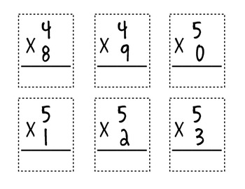 Multiplication Math Facts Packet