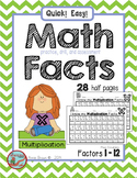 Multiplication Math Facts