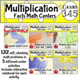 Multiplication Math Fluency Puzzle bundle Math Center Activity