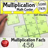 Multiplication Math Facts Puzzle for 4 5 and 6 times tables Distance Learning