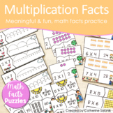 Multiplication Math Facts Puzzles Fact Fluency
