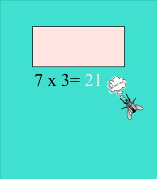 Multiplication Math Facts & Swatting Flies! SMARTBoard game